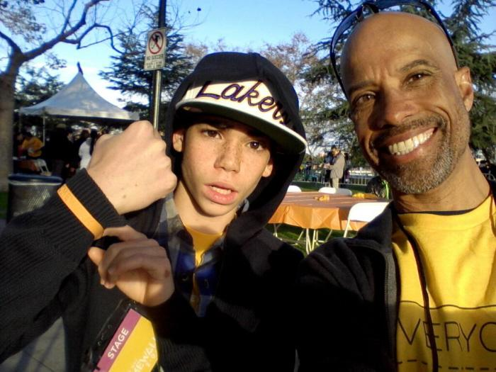 Cameron Boyce and Dad.