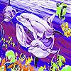 Dream dolphins in sea slide puzzle