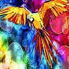 Colorful woods parrot slide puzzle